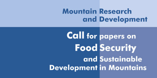 MRD Call for Papers: Food security and sustainable development in mountains